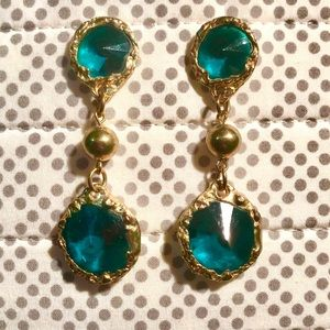 Vintage gold and gemstone statement earrings.